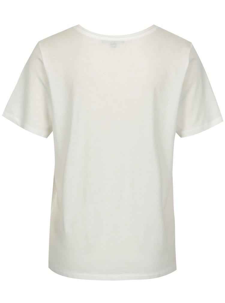 Krémové tričko s potiskem TALLY WEiJL