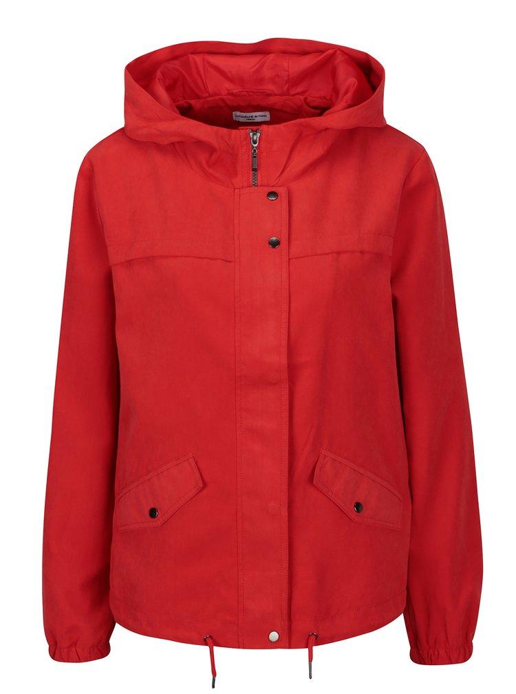 Červená bunda s kapucí Jacqueline de Yong Shine