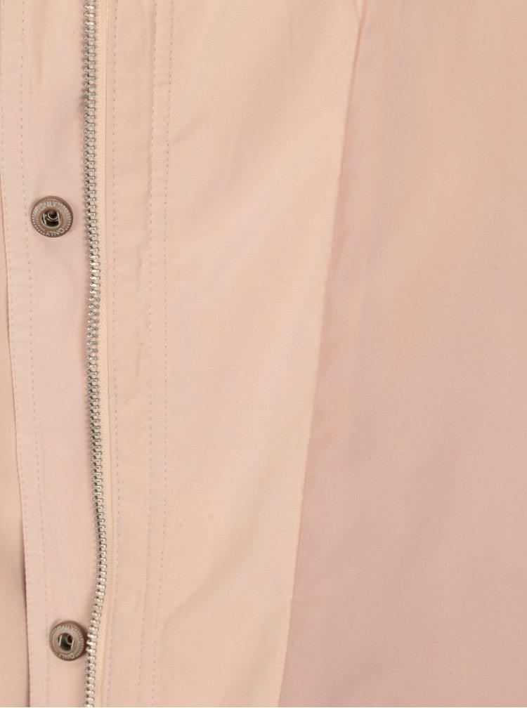 Světle růžová bunda s kapucí ONLY New Skylar