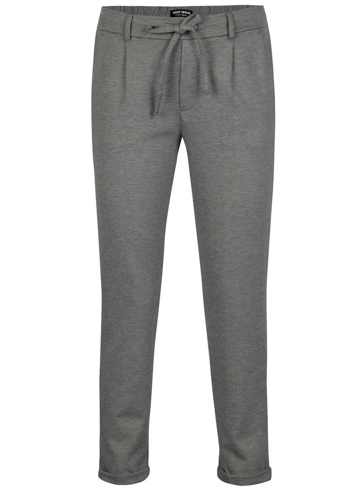 Tmavě šedé kalhoty TALLY WEiJL