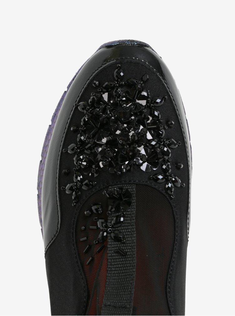 Černé dámské tenisky s aplikací Tamaris