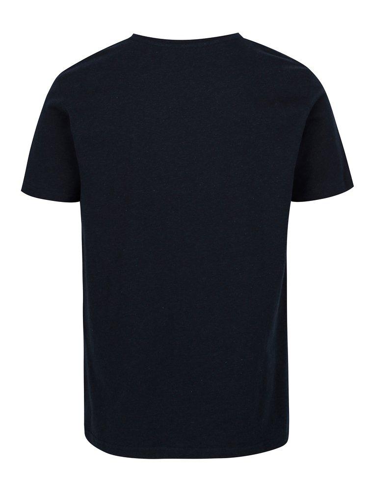 Tmavě modré pánské tričko s krátkým rukávem Makia Aweigh