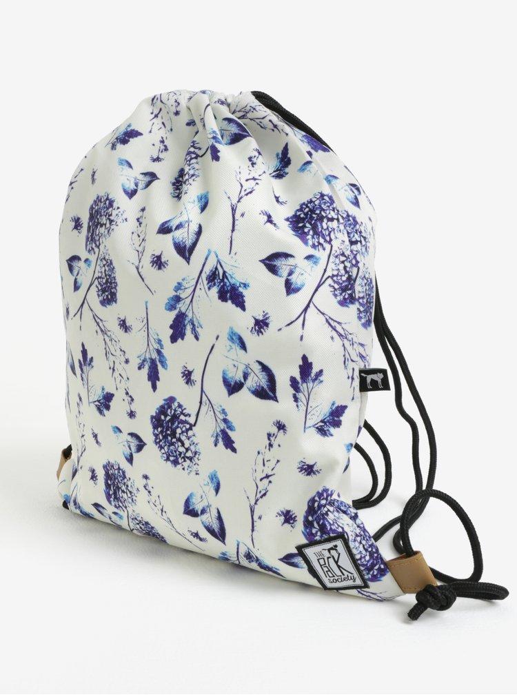 Krémový dámský vak s květovaným potiskem The Pack Society