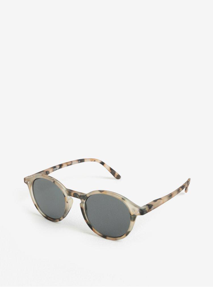 Béžové vzorované unisex sluneční brýle IZIPIZI #D