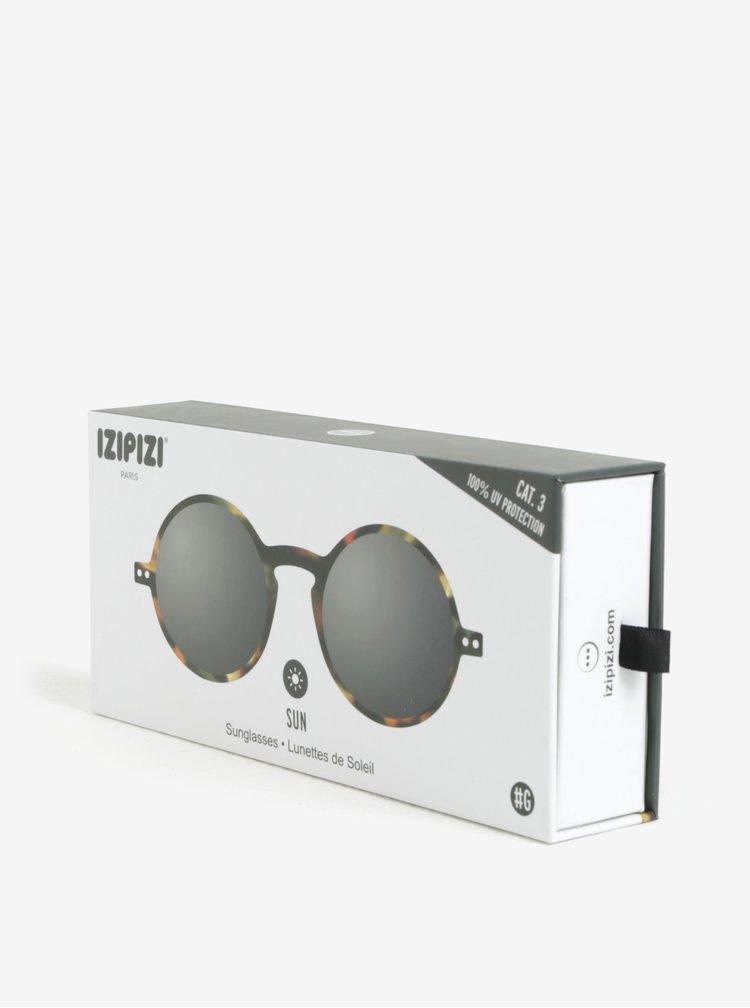 Černé vzorované unisex sluneční brýle IZIPIZI #G