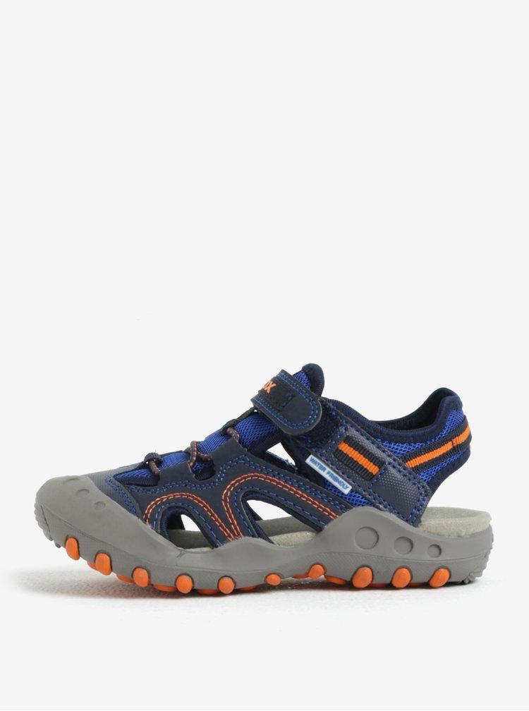 Šedo-modré klučičí sandály Geox Kyle