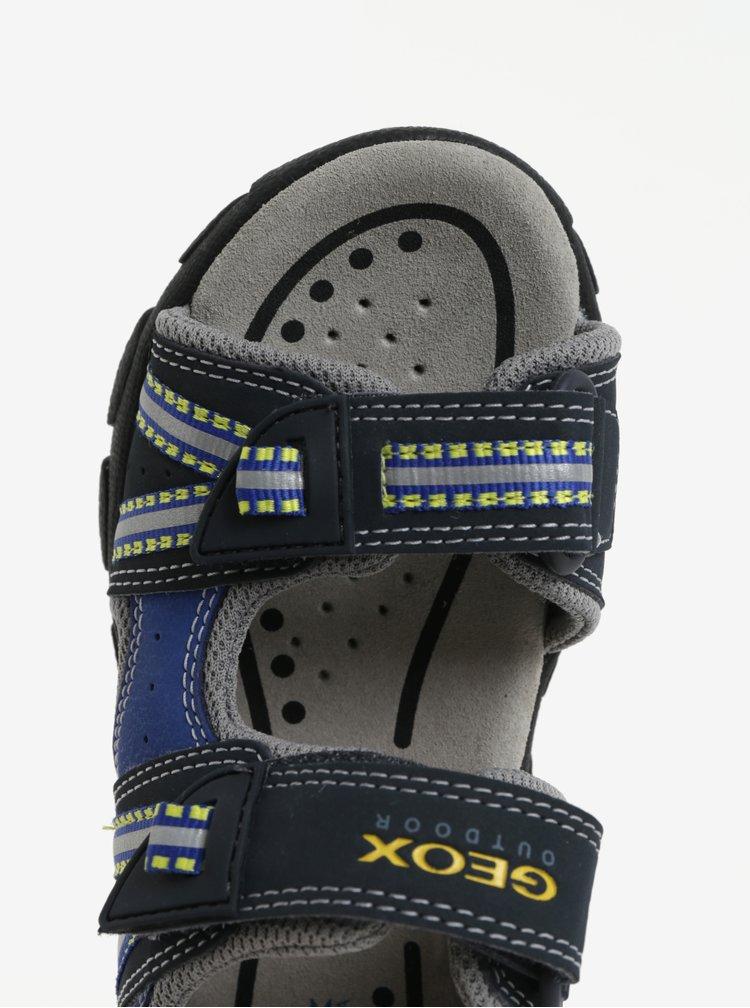 Modro-černé klučičí sandály Geox Strada