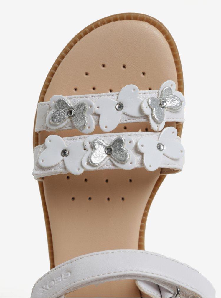 Krémové holčičí sandálky Geox Karly