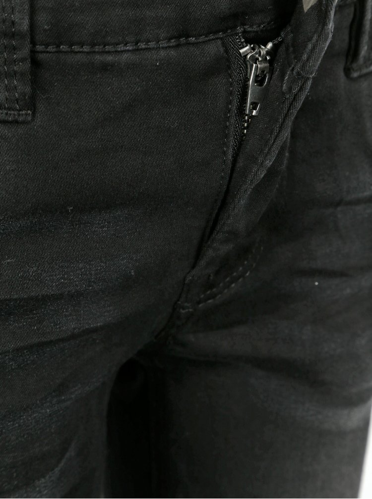 Černé klučičí džínové kraťasy name it Theo