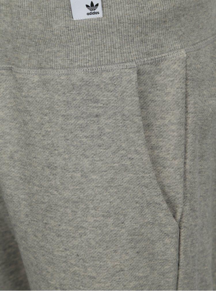 Světle šedé pánské žíhané tepláky adidas Originals X By