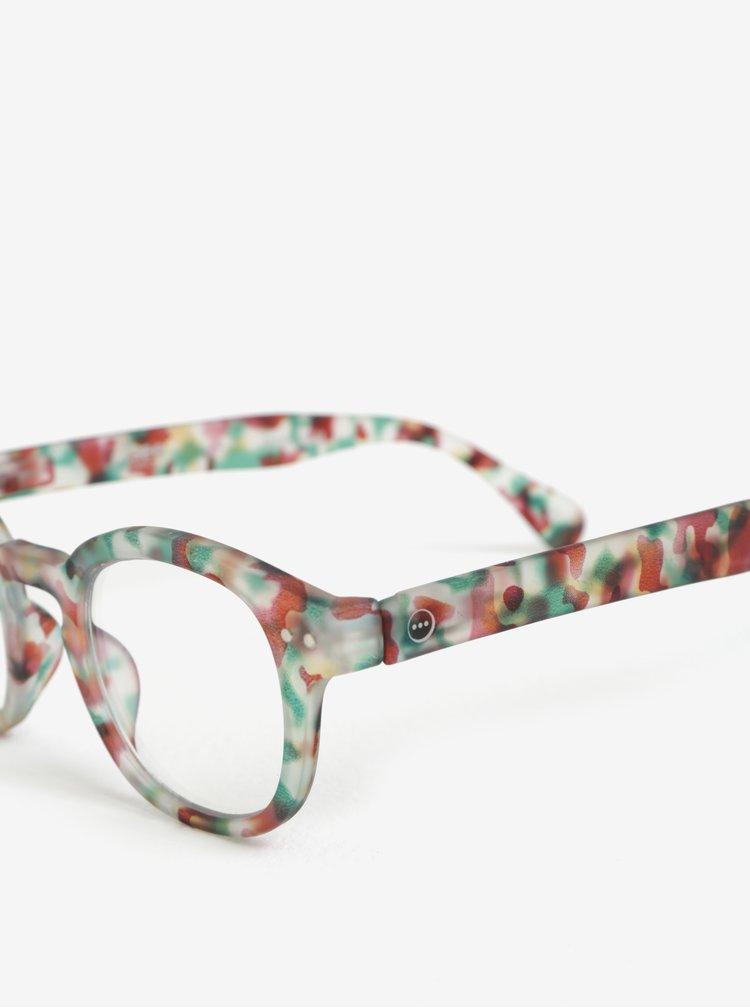 Zelené maskáčové unisex ochranné brýle k PC IZIPIZI #C