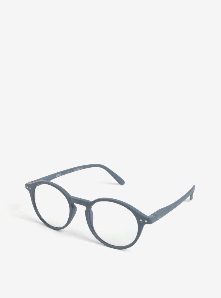 Šedé unisex ochranné brýle k PC IZIPIZI #D