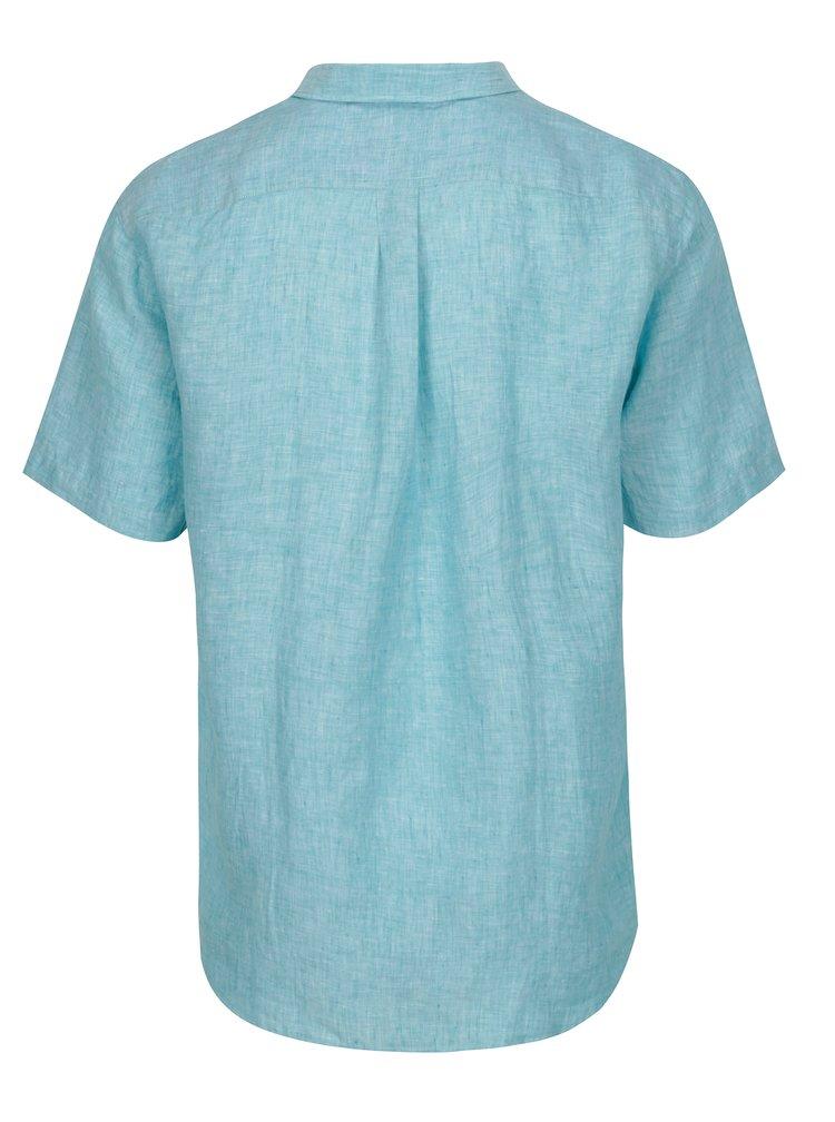Camasa casual fit albastru deschis cu maneci scurte - Fynch-Hatton