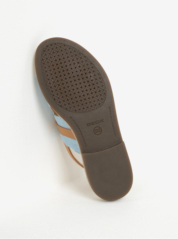 Hnedo–modré dámske sandálky Geox Mary Kolleen