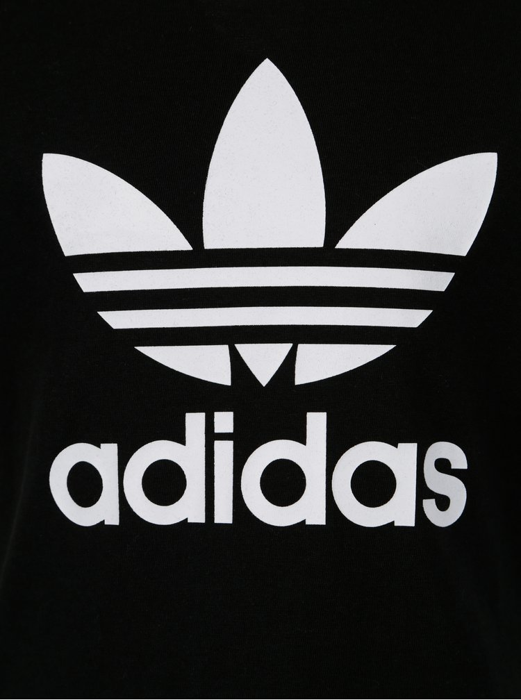 Bílo-černý klučičí set s kraťasy a tričkem adidas Originals