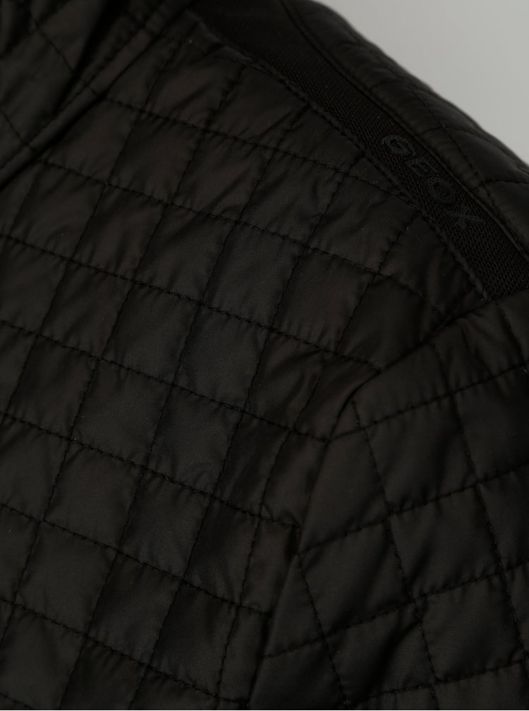Černá dámská prošívaná bunda Geox