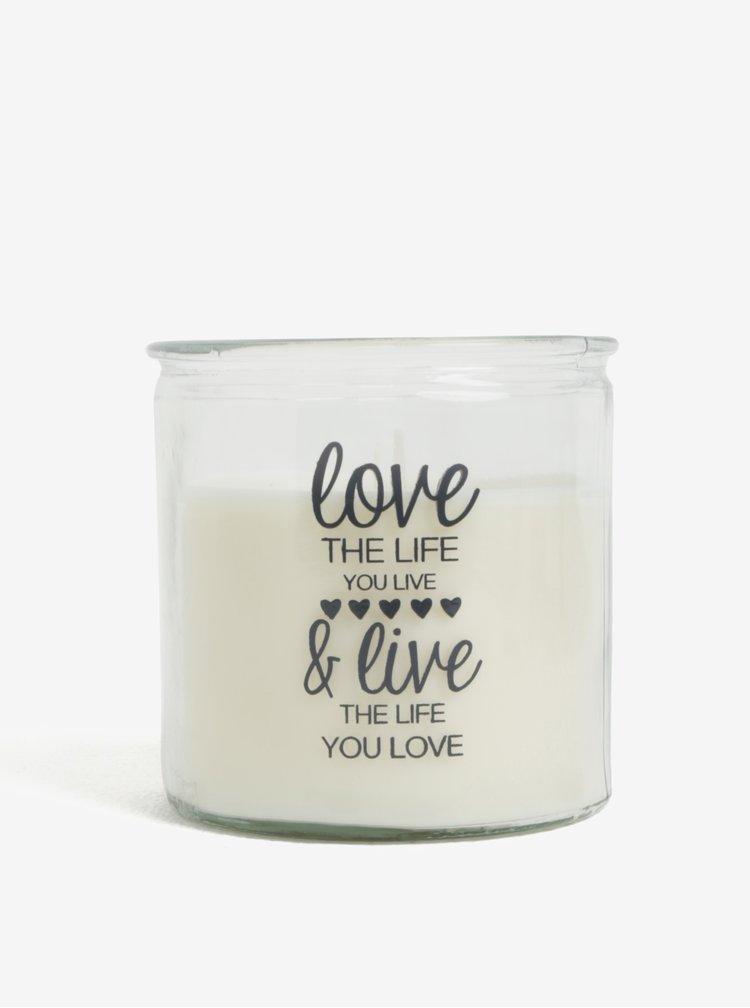 Lumanare crem cu mesaj SIFCON Love&live