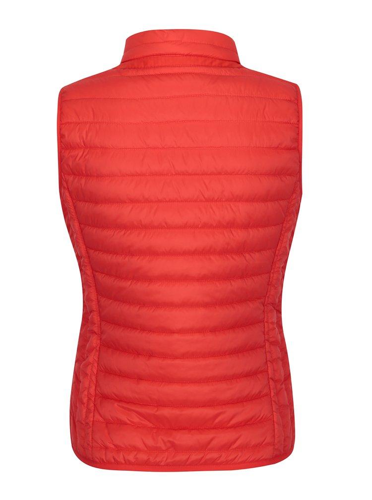 Červená dámská prošívaná vesta Geox