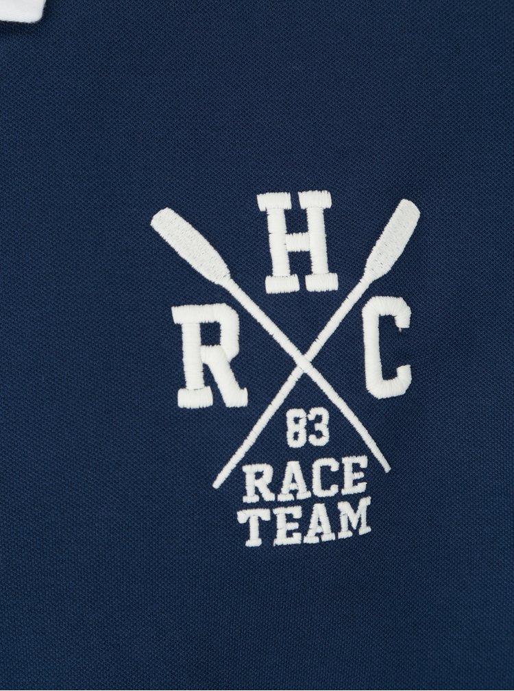 Tmavě modré classic fit polo tričko Hackett London