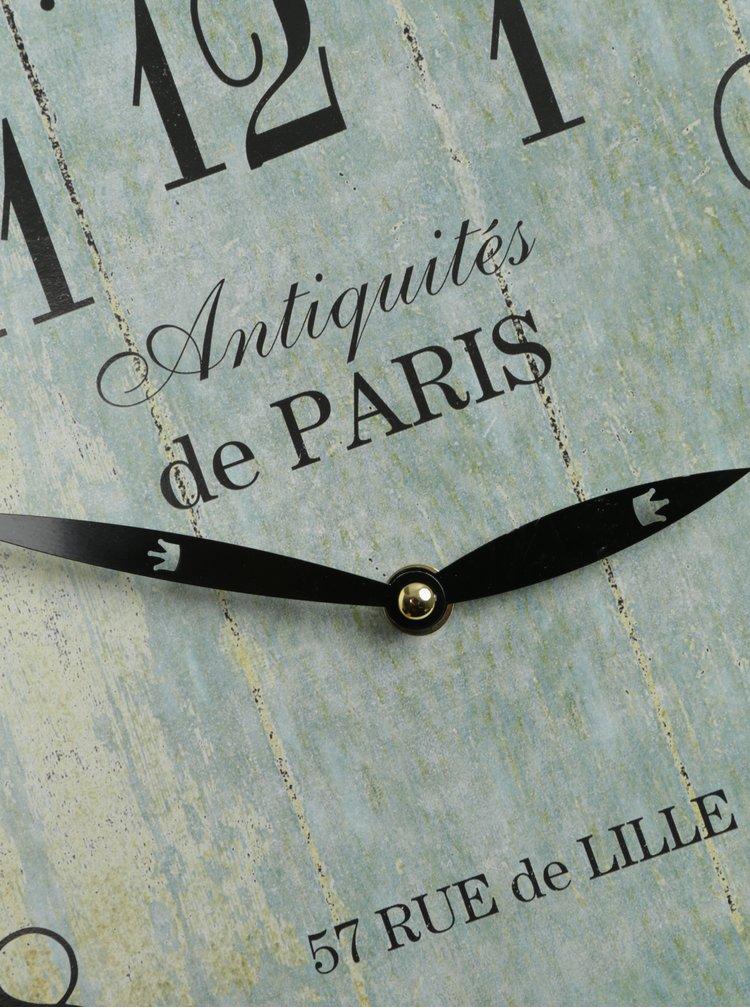 Světle modré vintage nástěnné hodiny SIFCON