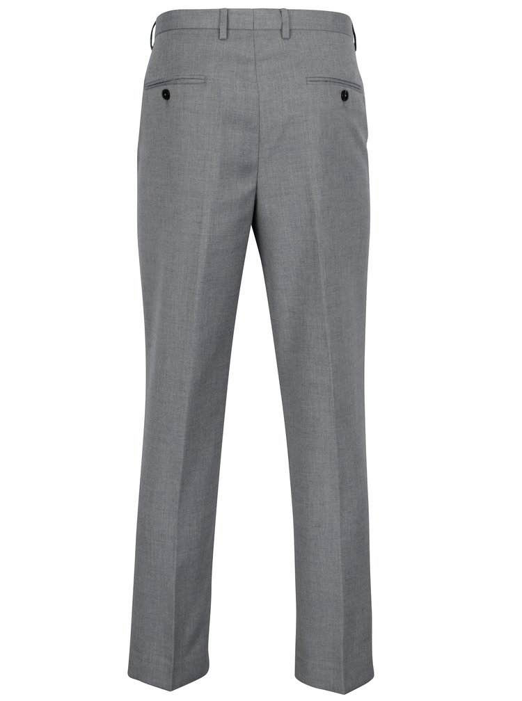 Pantaloni de costum tailored fit gri albastrui - Burton Menswear London