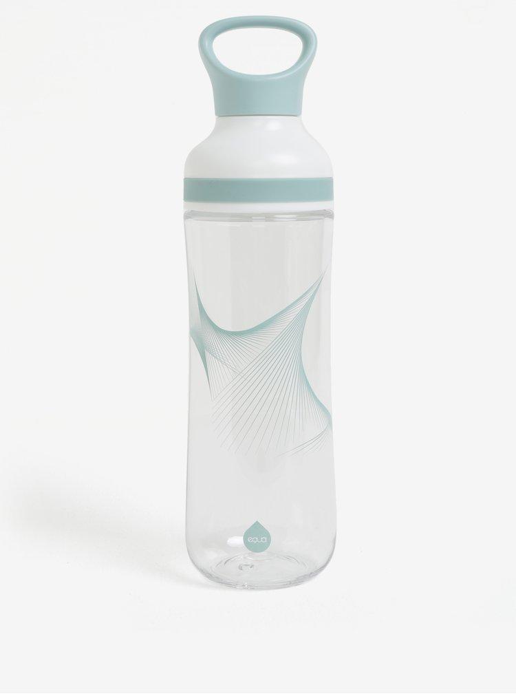 Set plastové lahve, dvou brček a dvou víček v krémovo-modré barvě EQUA Flow (800 ml)