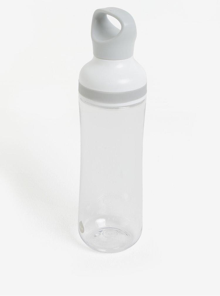 Krémovo-šedá plastová lahev EQUA Flow (800 ml)