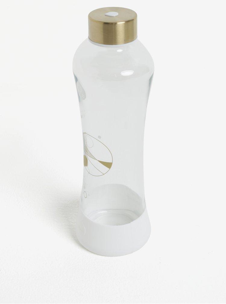 Skleněná lahev ve zlato-bílé barvě EQUA Stardust (550 ml)