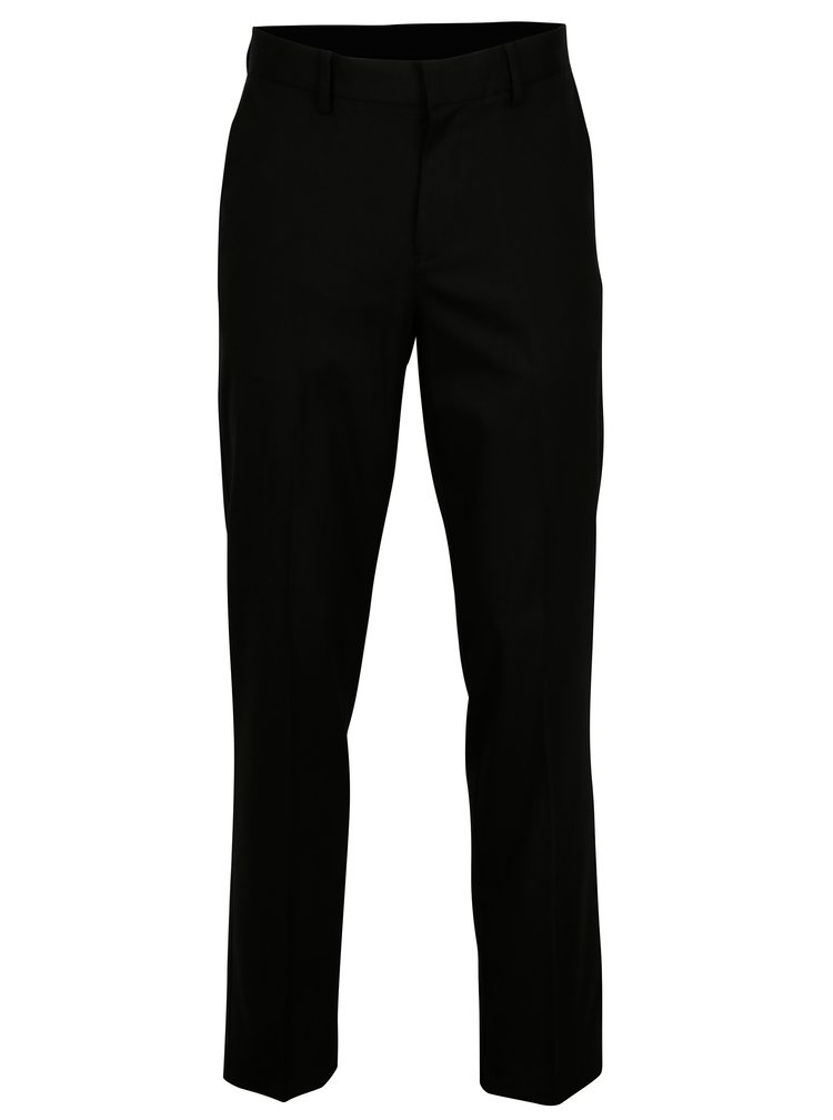 Pantaloni negri regular fit cu buzunare - Burton Menswear London