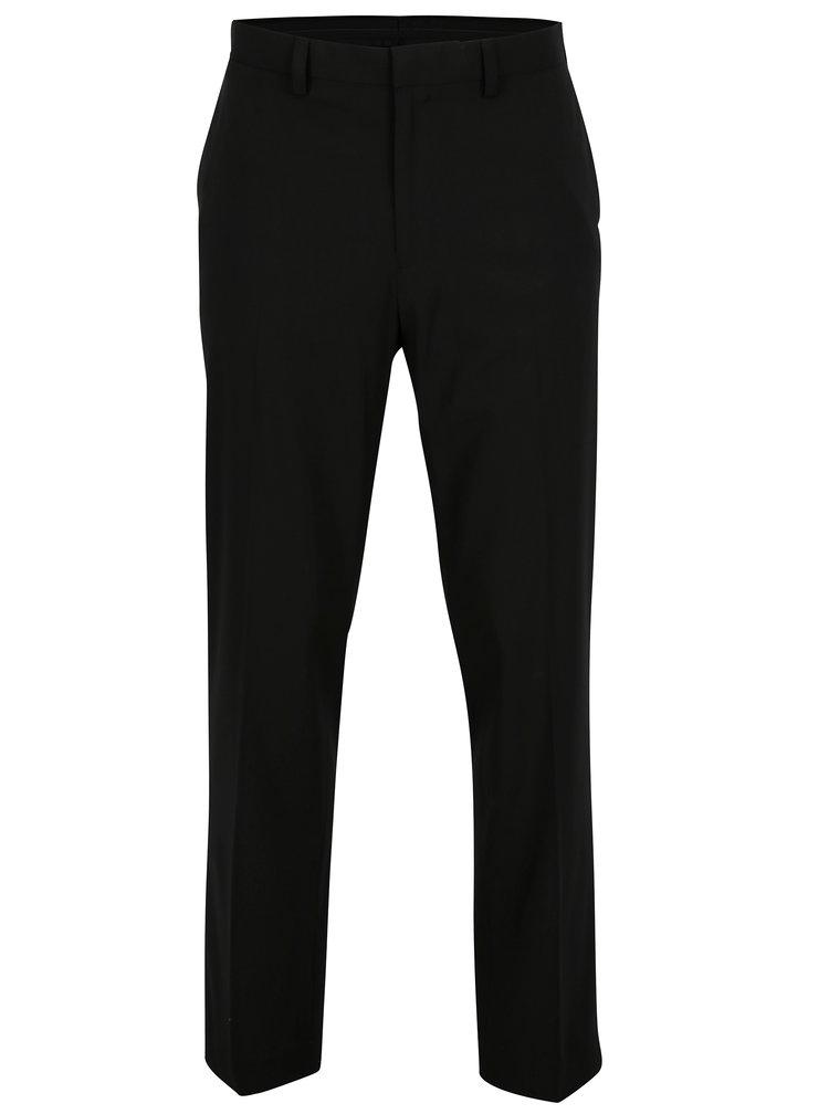 Černé pánské regular fit kalhoty Burton Menswear London