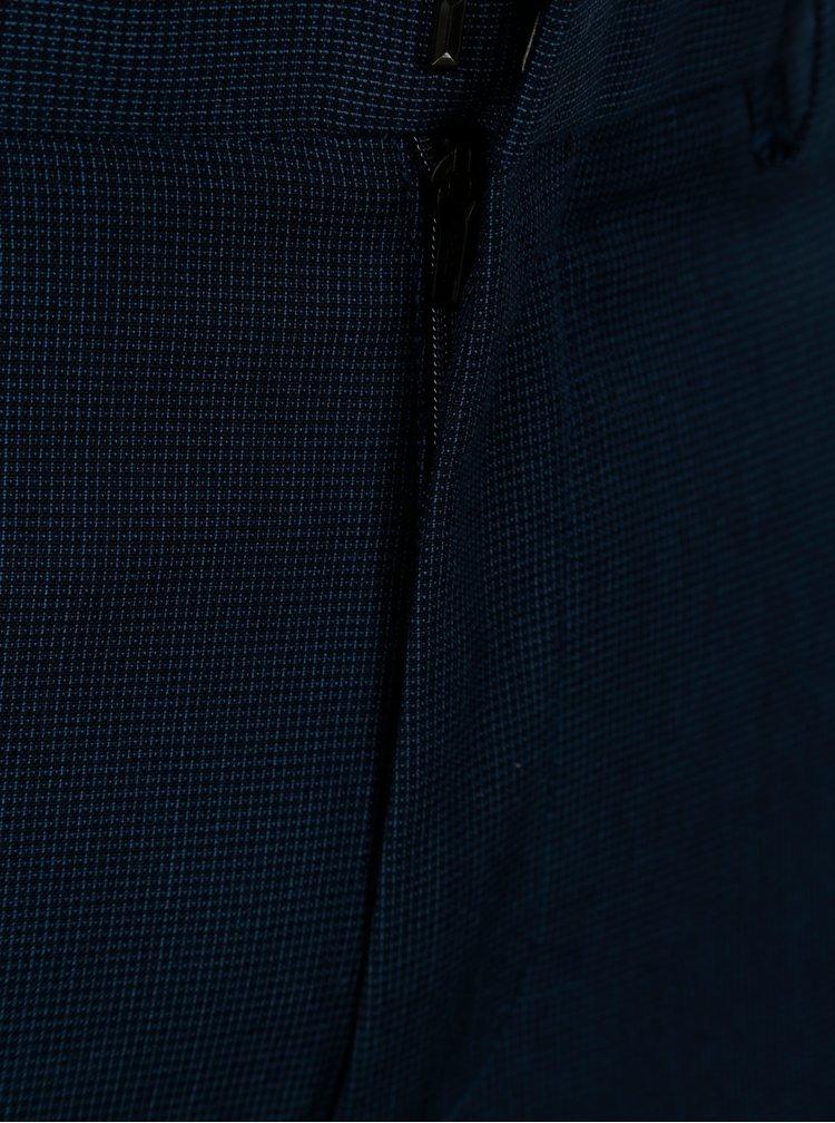 Tmavomodré tailored fit nohavice Burton Menswear London