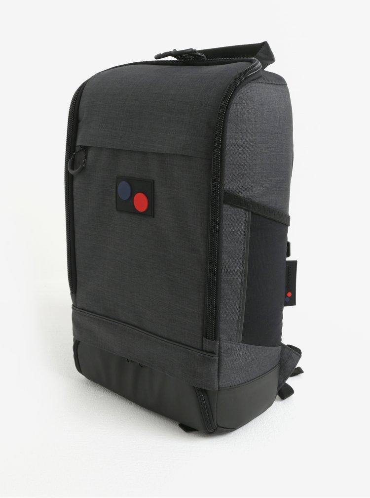 Tmavě šedý voděodolný batoh z recyklovaného materiálu pinqponq Cubik medium 19 l