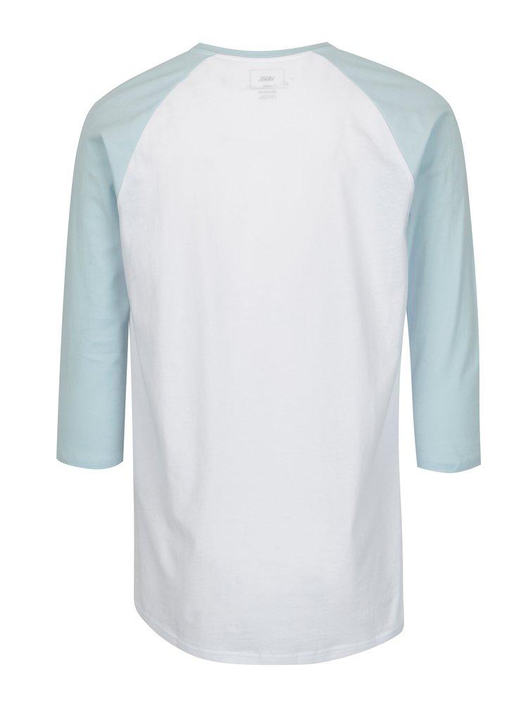 Modro-bílé pánské tričko s nápisem a 3/4 rukávy VANS Classic