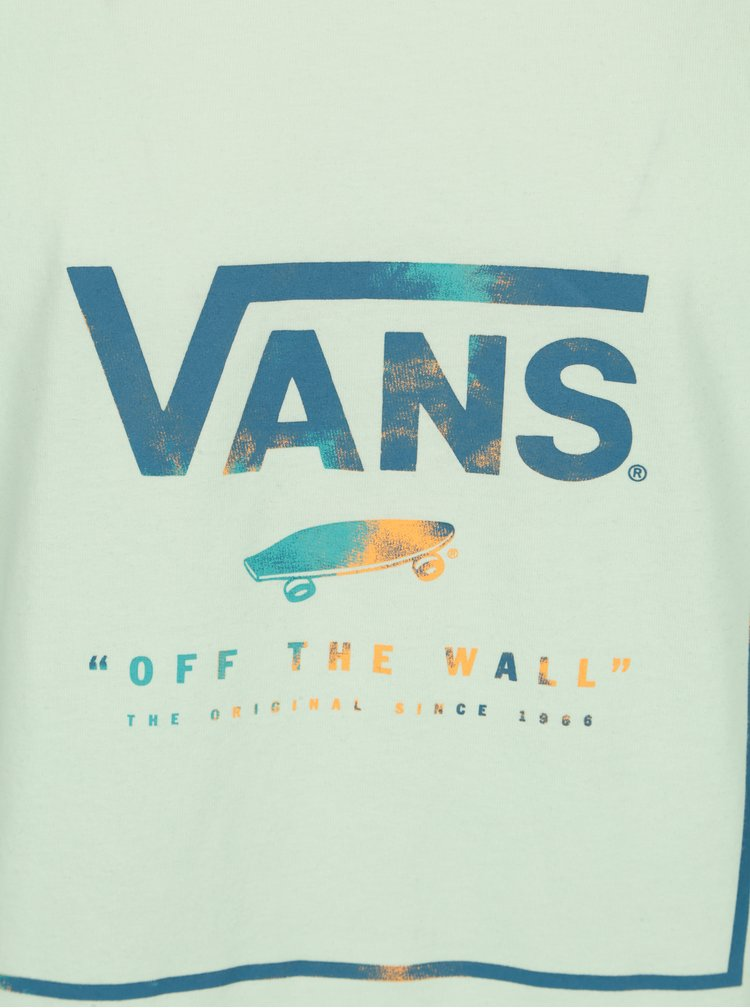 Tricou verde deschis cu print logo pentru barbati  VANS Box