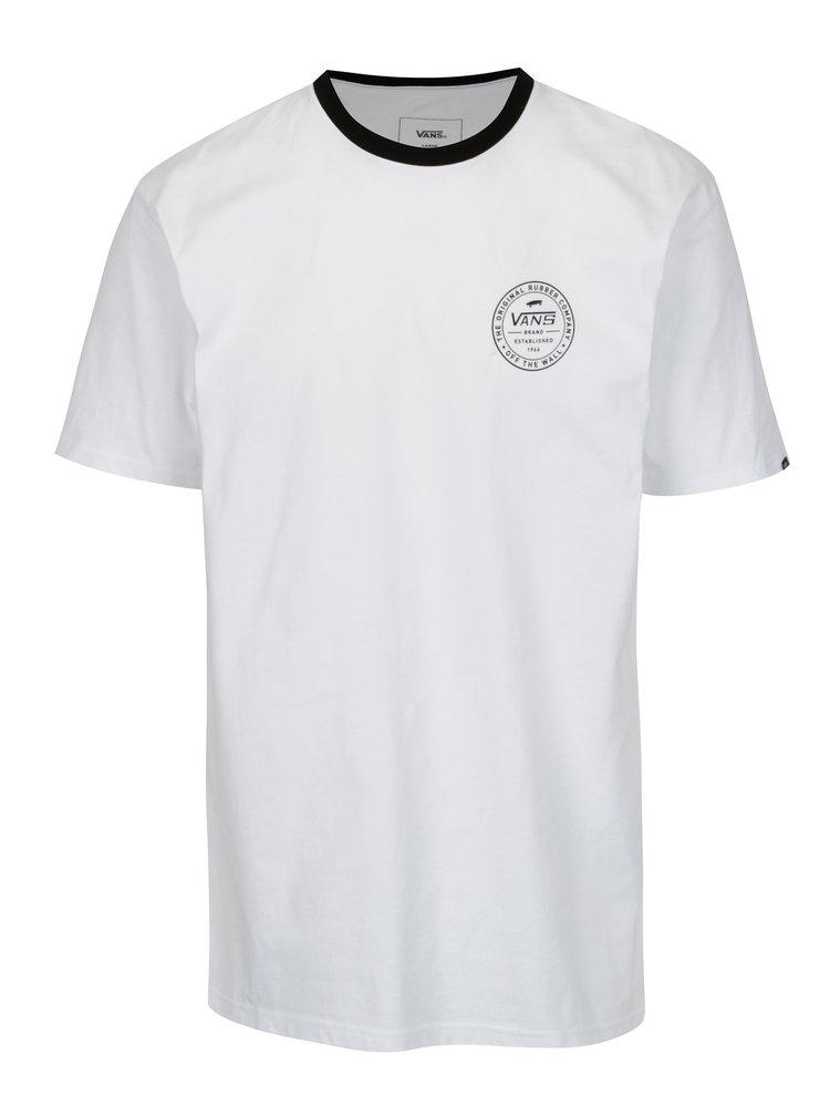 Tricou alb cu print logo pentru barbati VANS Established