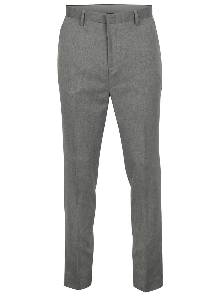 Šedé tapered fit kalhoty Burton Menswear London