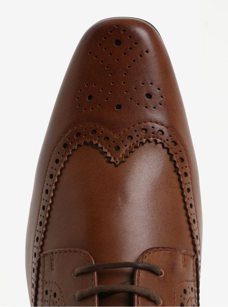 Světle hnědé pánské brogue polobotky Burton Menswear London