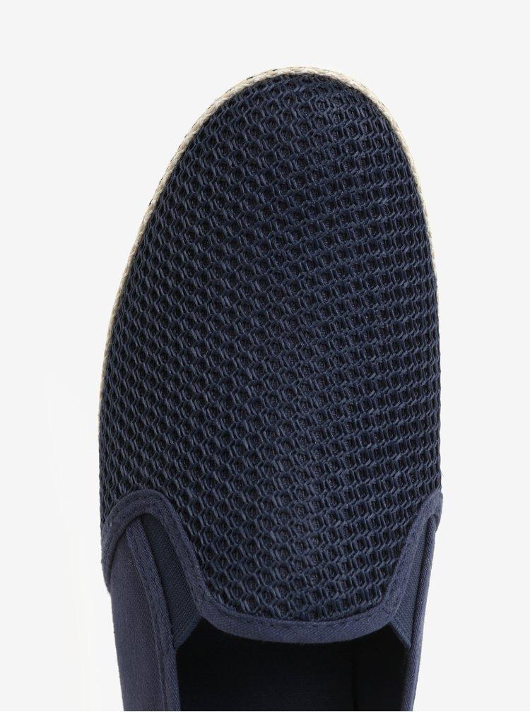 Tmavě modré pánské slip on tenisky Dune London Fencing