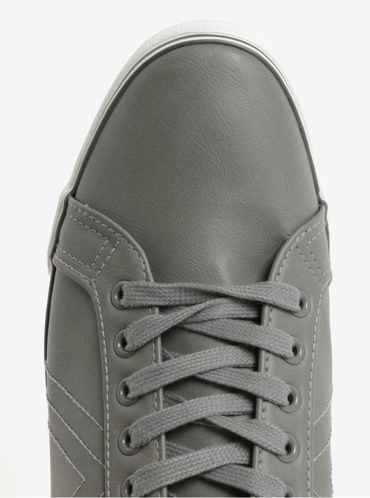 Tmavě šedé pánské tenisky Burton Menswear London