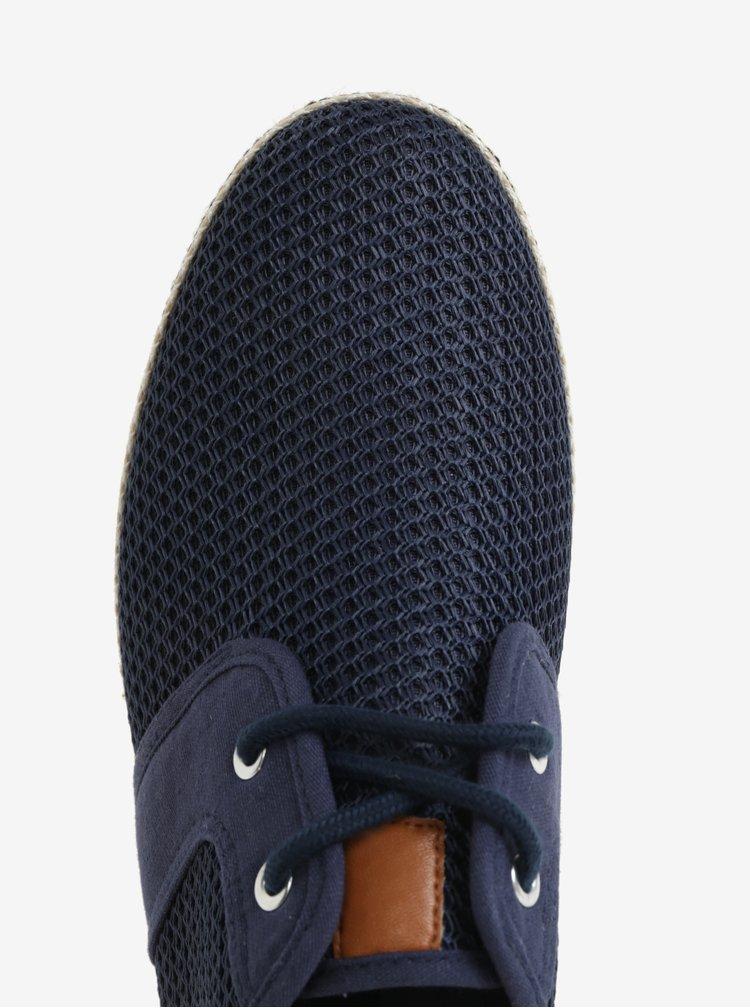 Tmavě modré pánské tenisky Dune London Fenntons