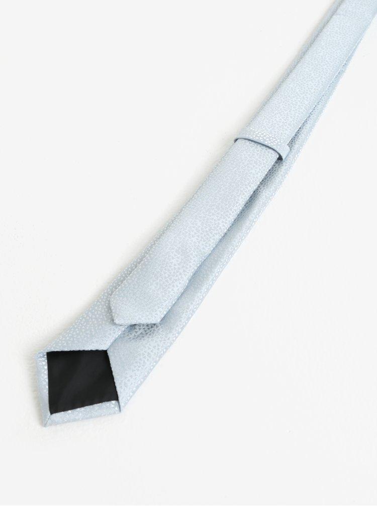 Světle modrá vzorovaná kravata Burton Menswear London