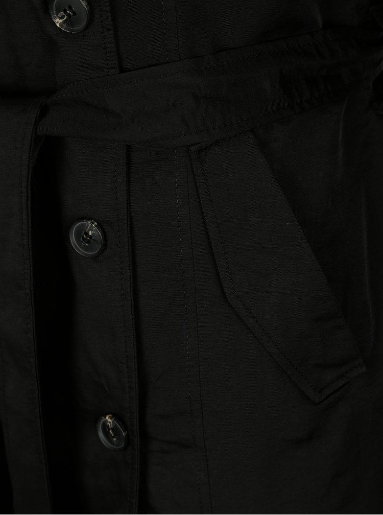 Černý trenčkot s páskem ONLY Lucy