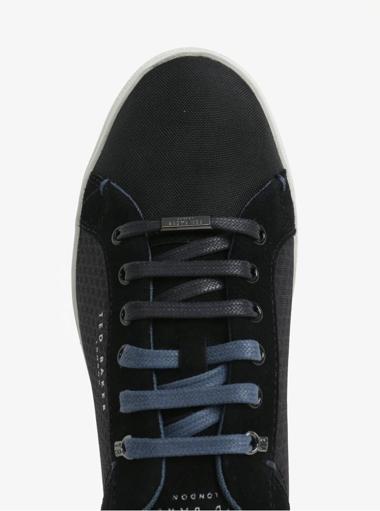 Pantofi sport negri cu detalii din piele intoarsa pentru barbati -  Ted Baker Sarpio