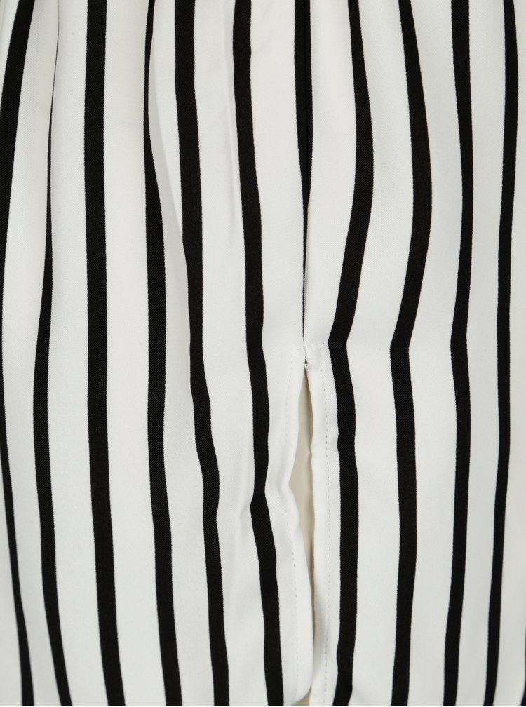 Černo-krémová pruhovaná košile s páskem Jacqueline de Yong Fancy