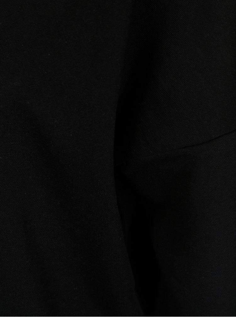 Černá mikina s šněrováním na zádech ONLY Sophia
