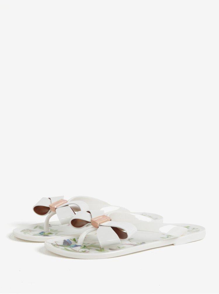 Krémové dámské žabky s mašlí Ted Baker Susziep