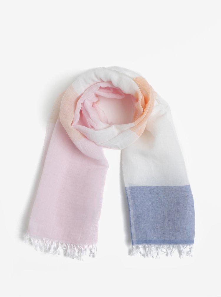Světle růžový pruhovaný dámský šátek GANT