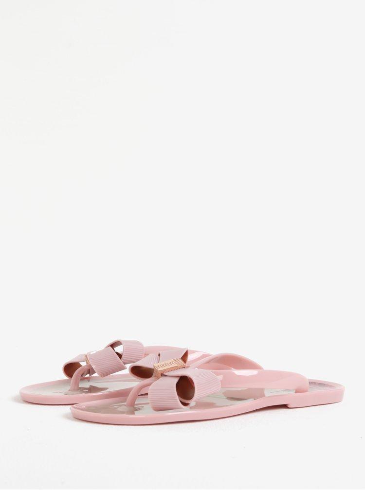 Světle růžové dámské žabky s mašlí Ted Baker Susziep