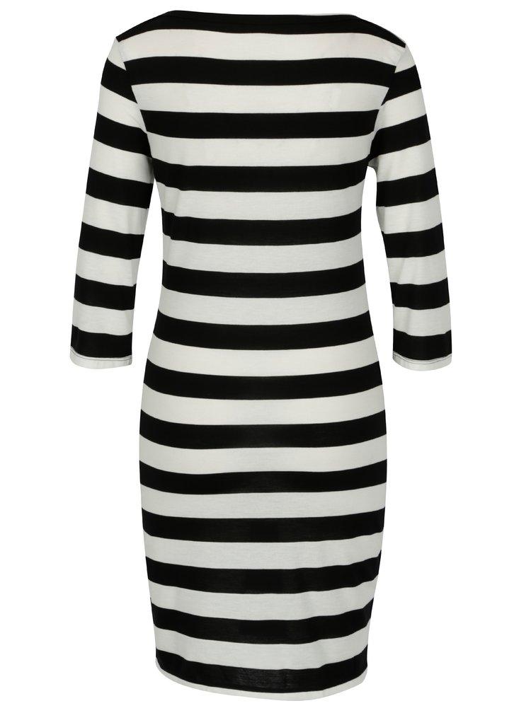 Černo-krémové pruhované šaty Jacqueline de Yong Bug