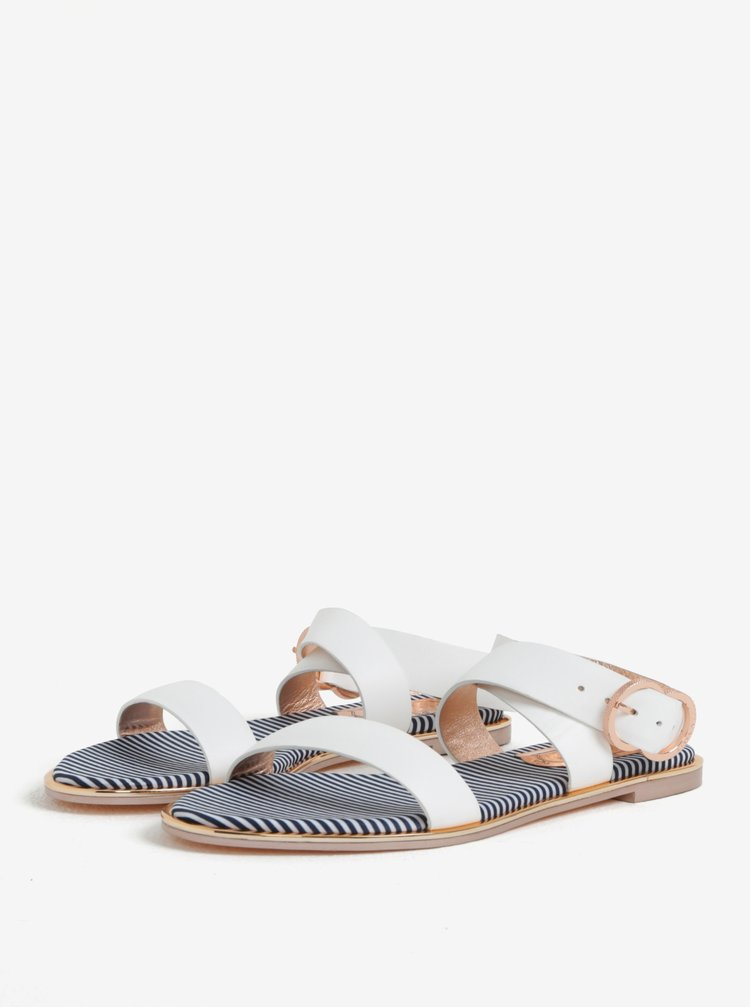 Bílé dámské kožené sandály Ted Baker Qereda